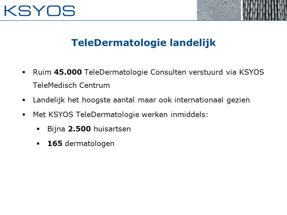 TeleDermatologie landelijk