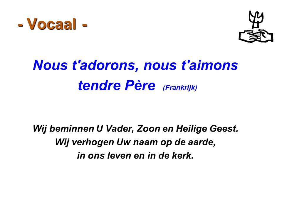 - Vocaal - Nous t adorons, nous t aimons tendre Père (Frankrijk)