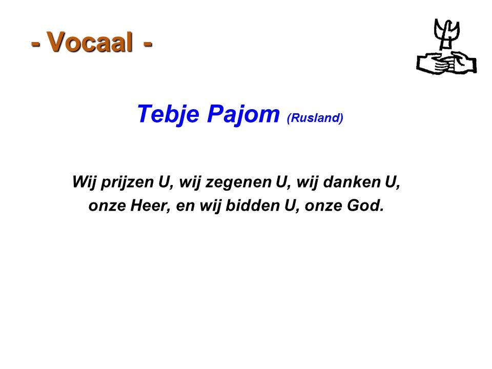 - Vocaal - Tebje Pajom (Rusland)