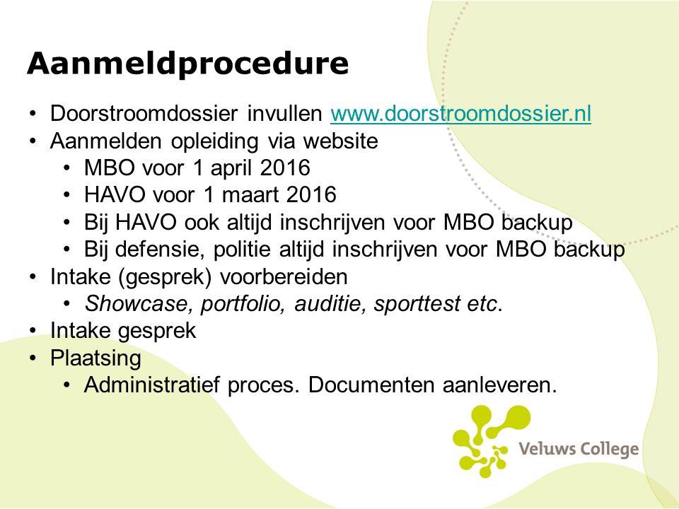 Aanmeldprocedure Doorstroomdossier invullen www.doorstroomdossier.nl