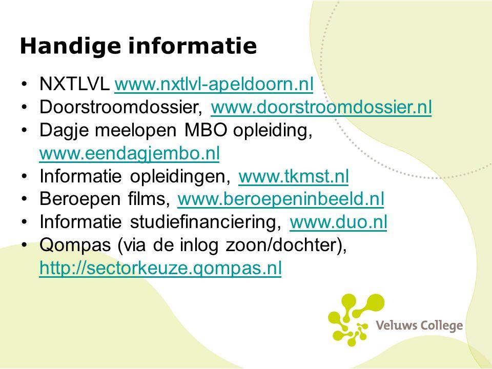 Handige informatie NXTLVL www.nxtlvl-apeldoorn.nl