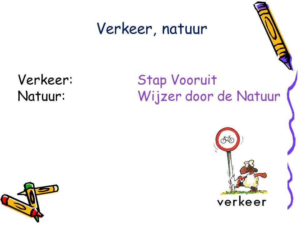 Verkeer, natuur Verkeer: Stap Vooruit Natuur: Wijzer door de Natuur