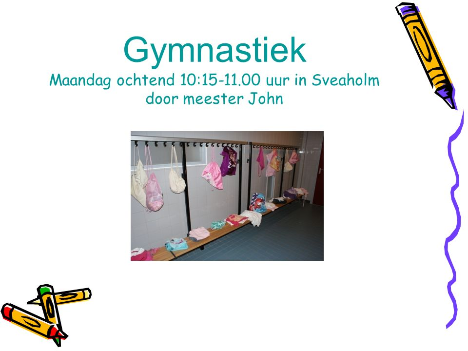 Gymnastiek Maandag ochtend 10:15-11