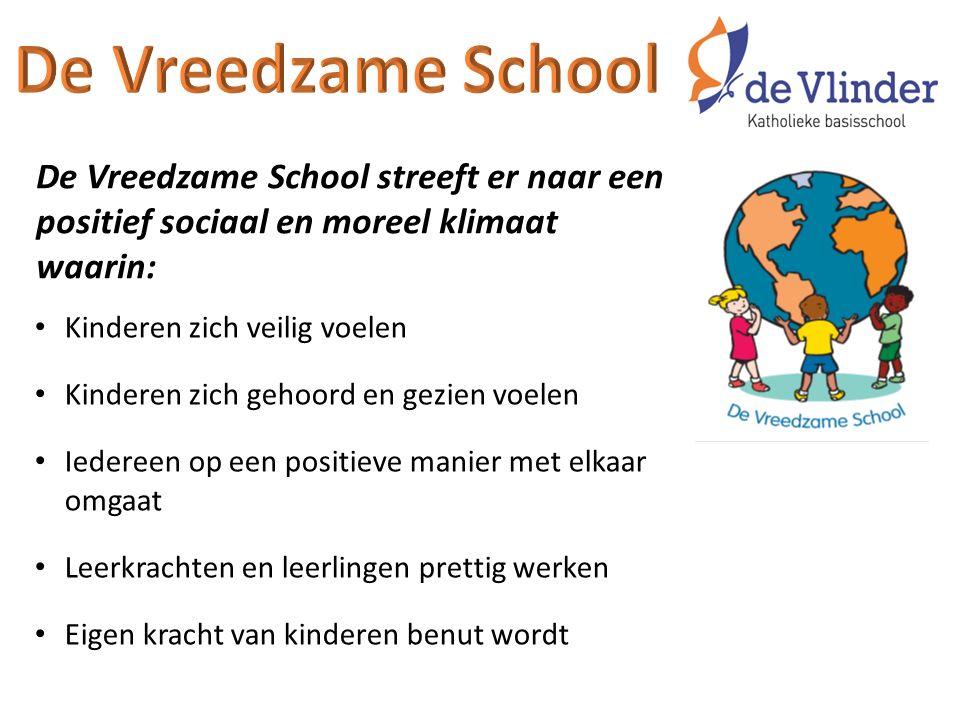 De Vreedzame School De Vreedzame School streeft er naar een positief sociaal en moreel klimaat waarin: