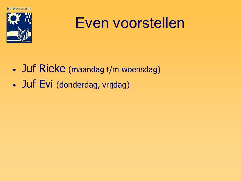 Even voorstellen Juf Rieke (maandag t/m woensdag)