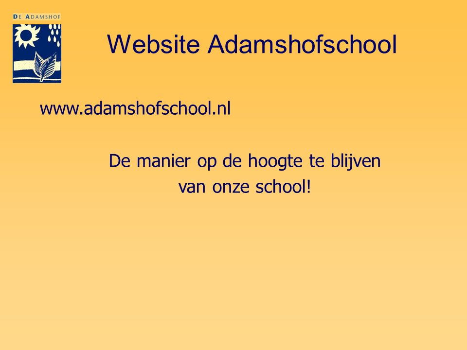 Website Adamshofschool