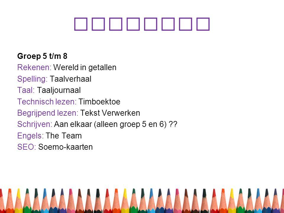 Methodes Groep 5 t/m 8 Rekenen: Wereld in getallen