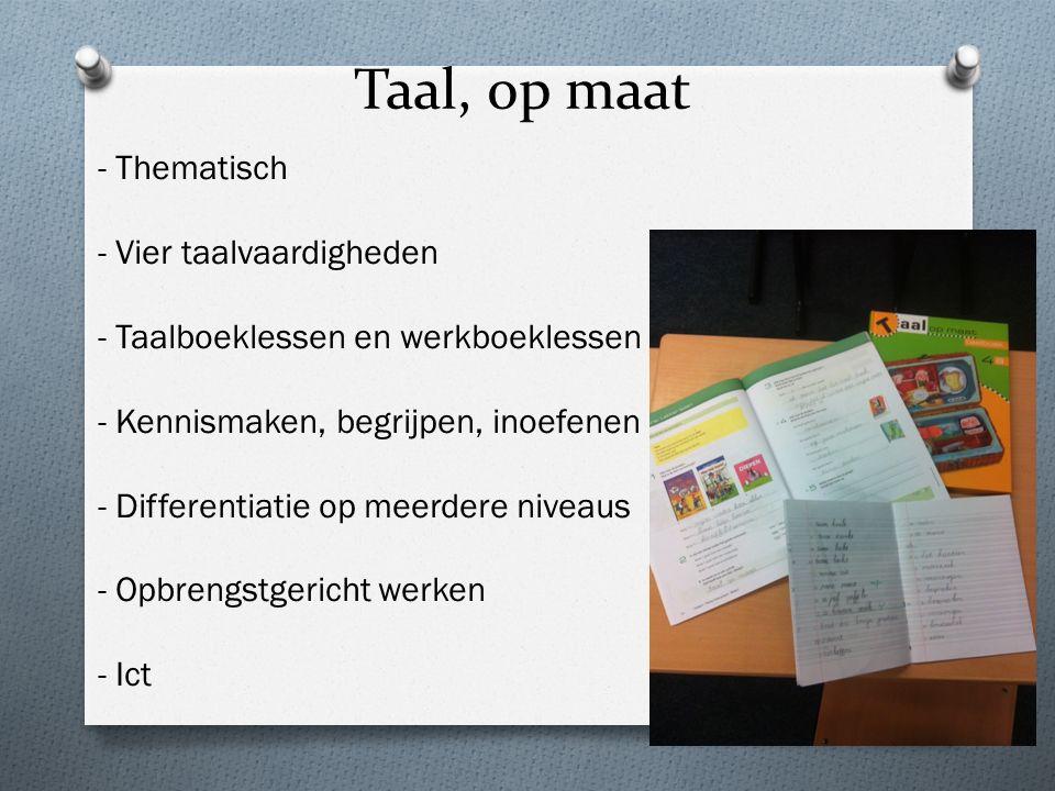 Taal, op maat - Thematisch - Vier taalvaardigheden