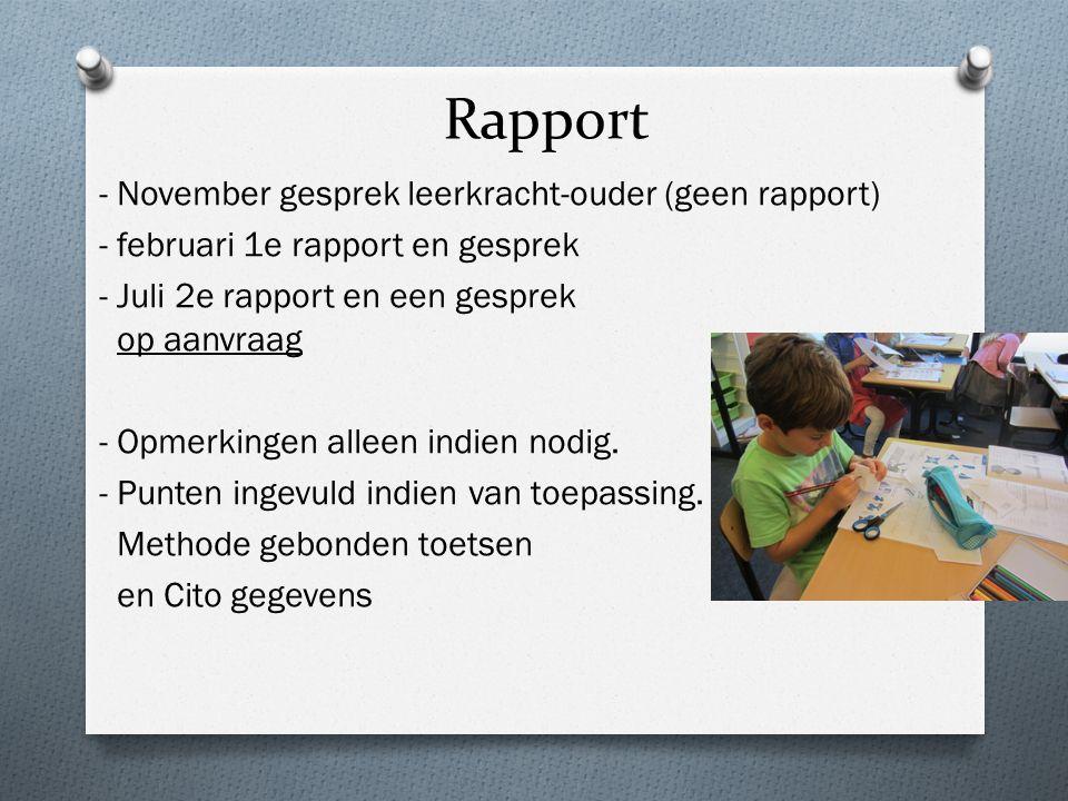 Rapport - November gesprek leerkracht-ouder (geen rapport)