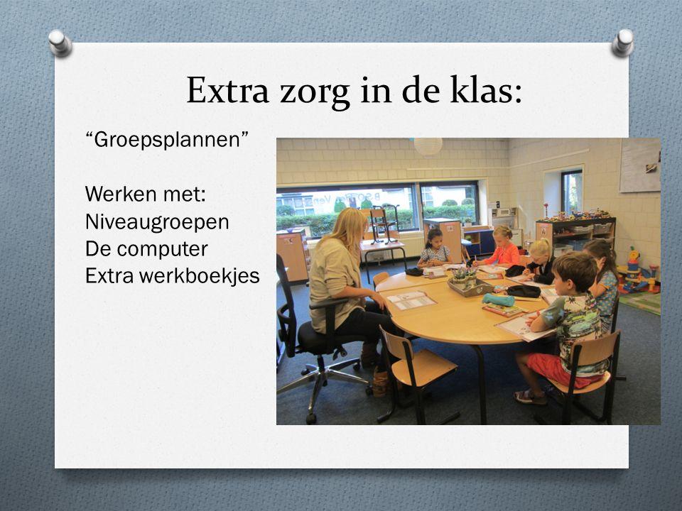 Extra zorg in de klas: Groepsplannen Werken met: Niveaugroepen