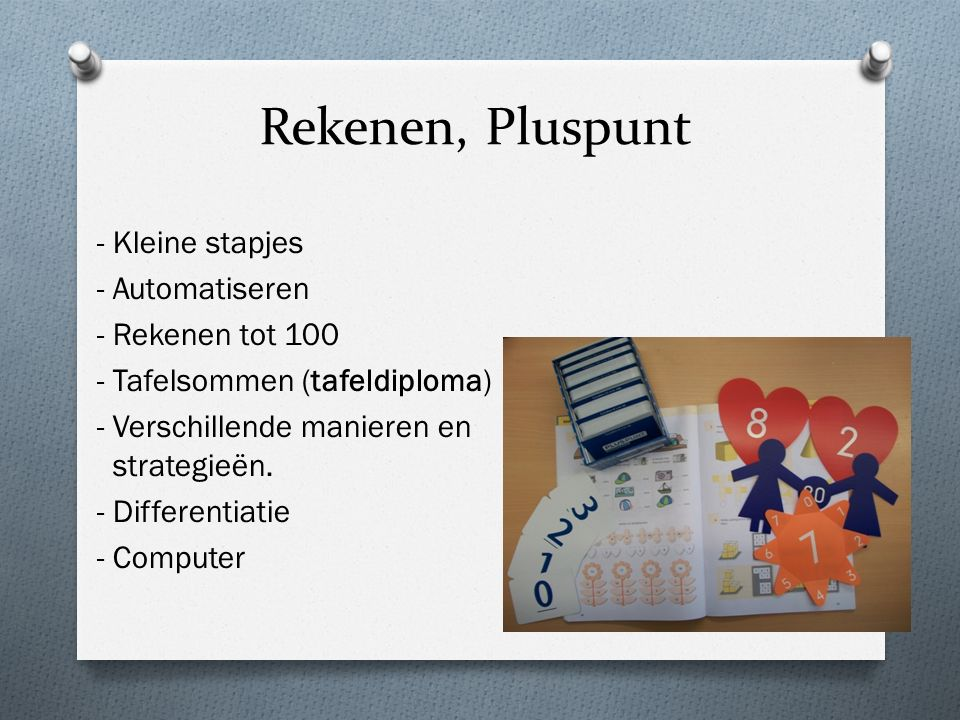Rekenen, Pluspunt - Kleine stapjes - Automatiseren - Rekenen tot 100