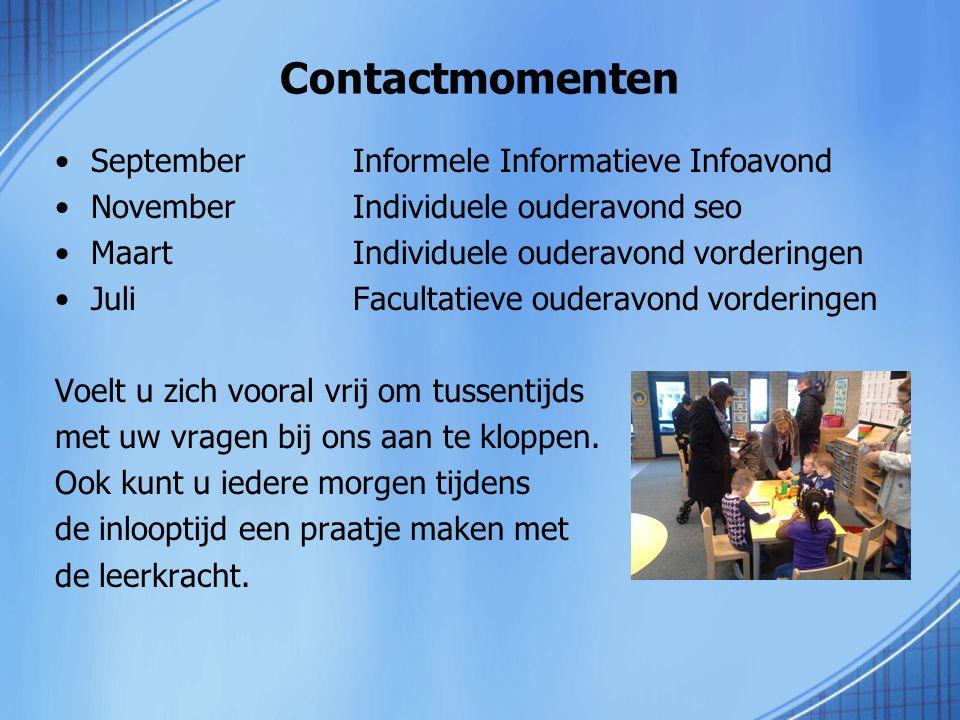 Contactmomenten September Informele Informatieve Infoavond