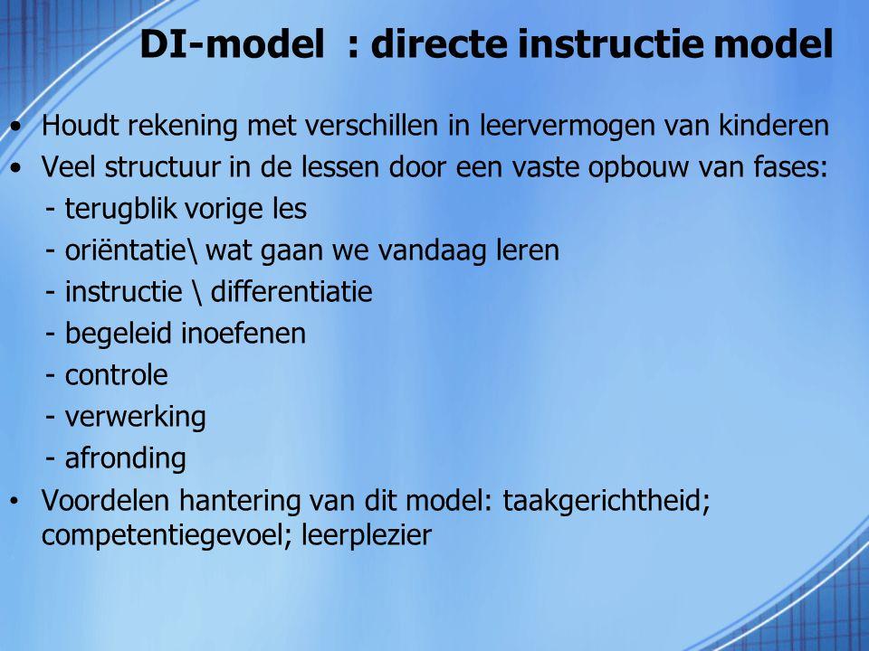 DI-model : directe instructie model