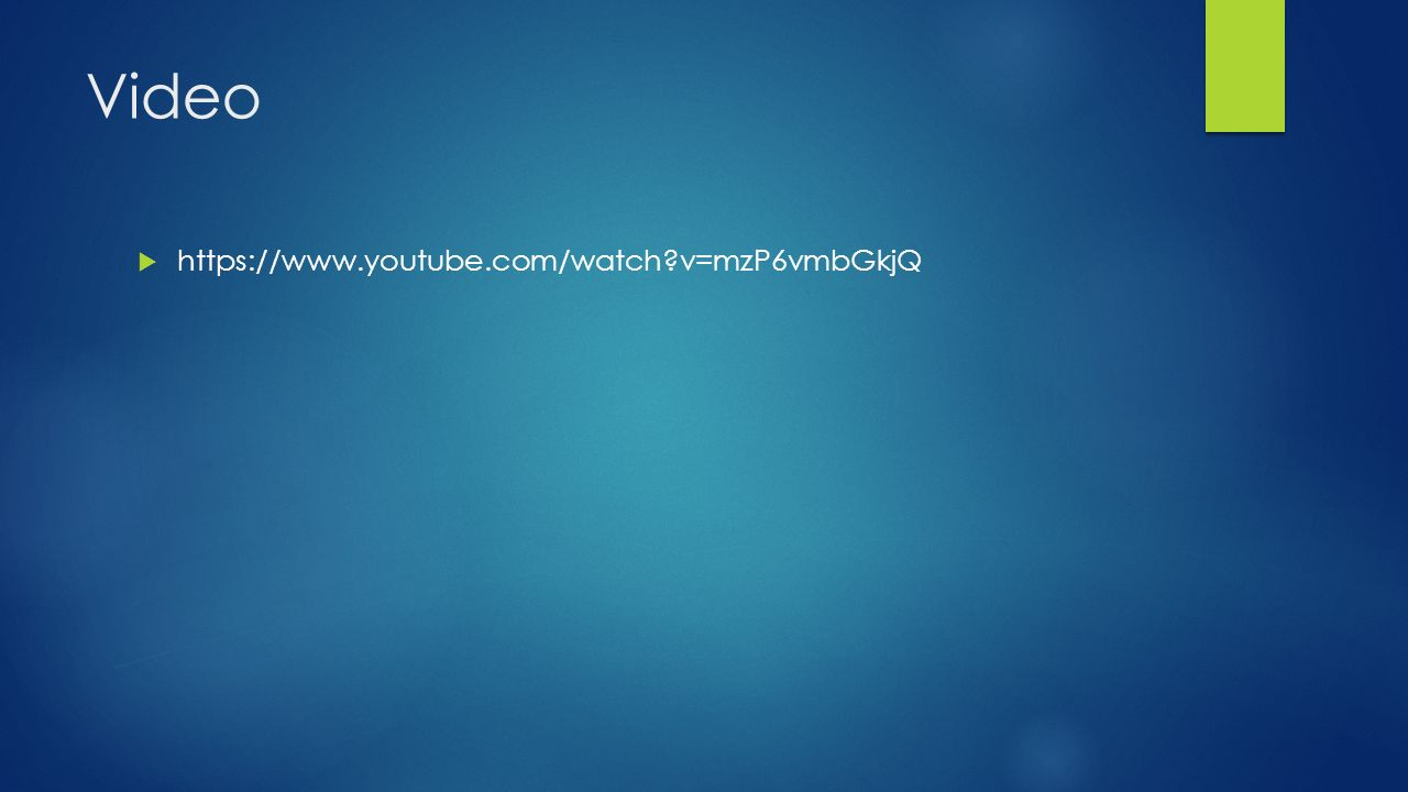 Video https://www.youtube.com/watch v=mzP6vmbGkjQ