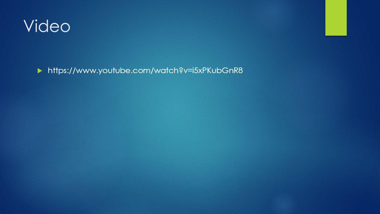 Video https://www.youtube.com/watch v=i5xPKubGnR8