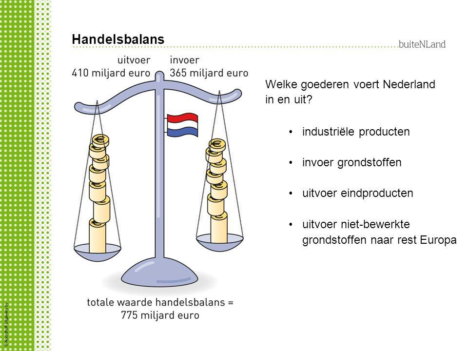 Handelsbalans Welke goederen voert Nederland in en uit