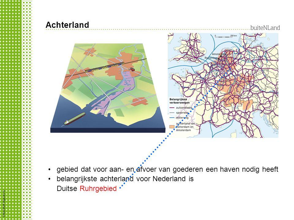 Achterland gebied dat voor aan- en afvoer van goederen een haven nodig heeft.