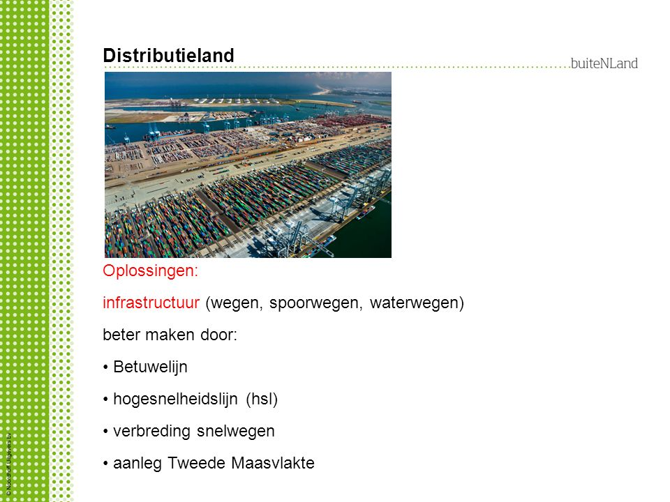 Distributieland Oplossingen: