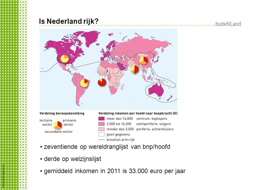 Is Nederland rijk zeventiende op wereldranglijst van bnp/hoofd