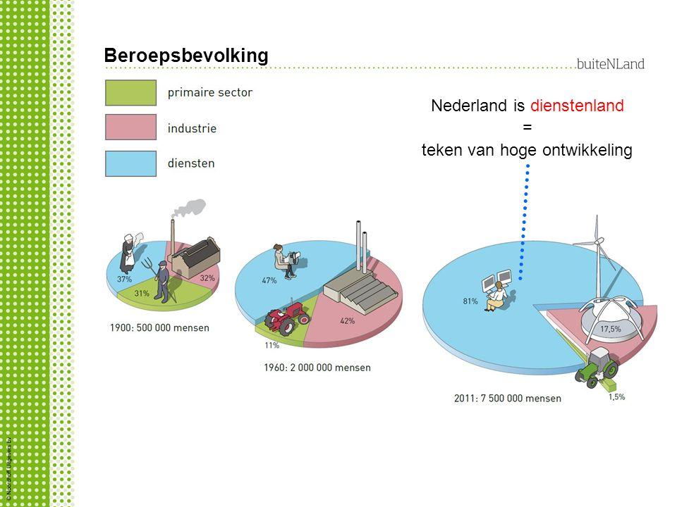 Beroepsbevolking Nederland is dienstenland =