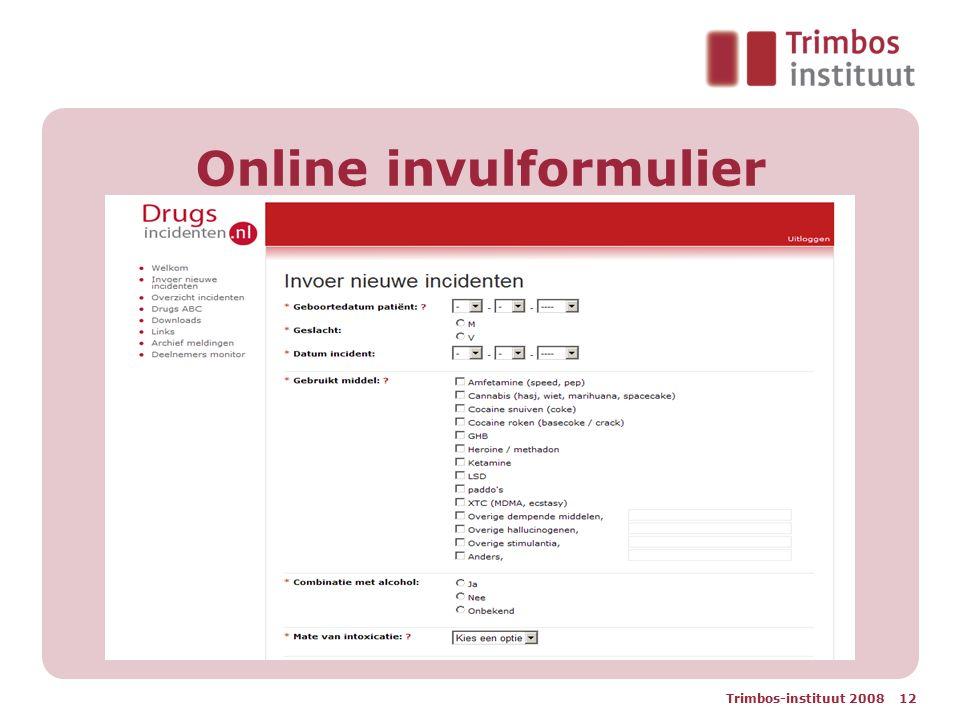 Online invulformulier
