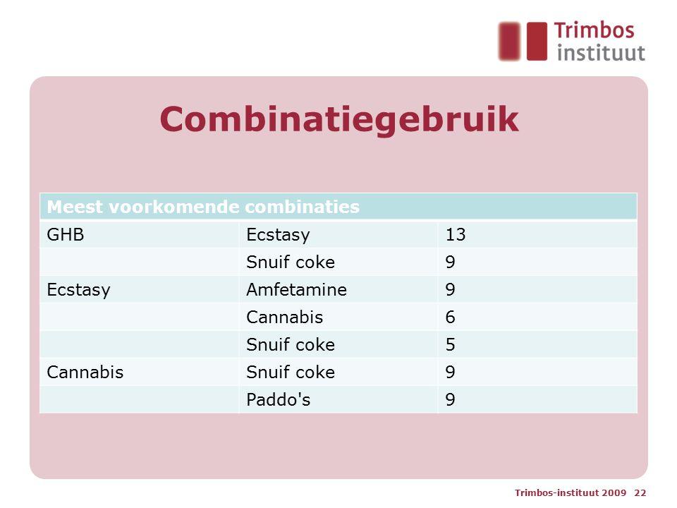 Combinatiegebruik Meest voorkomende combinaties GHB Ecstasy 13