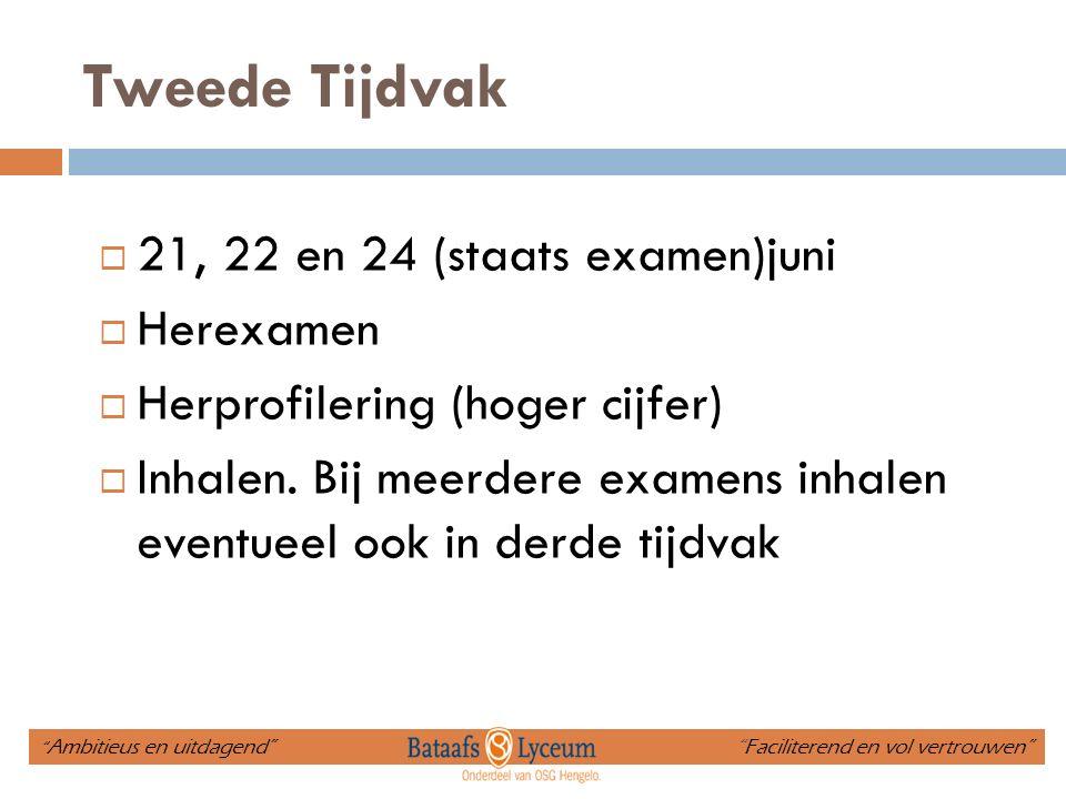 Tweede Tijdvak 21, 22 en 24 (staats examen)juni Herexamen