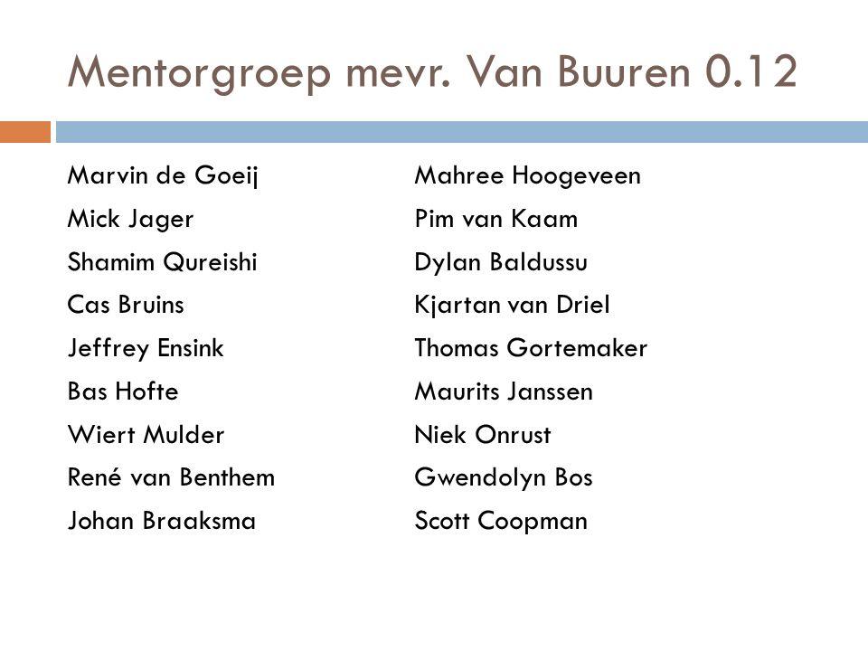 Mentorgroep mevr. Van Buuren 0.12