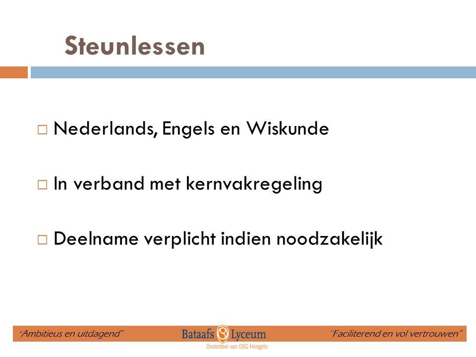 Steunlessen Nederlands, Engels en Wiskunde