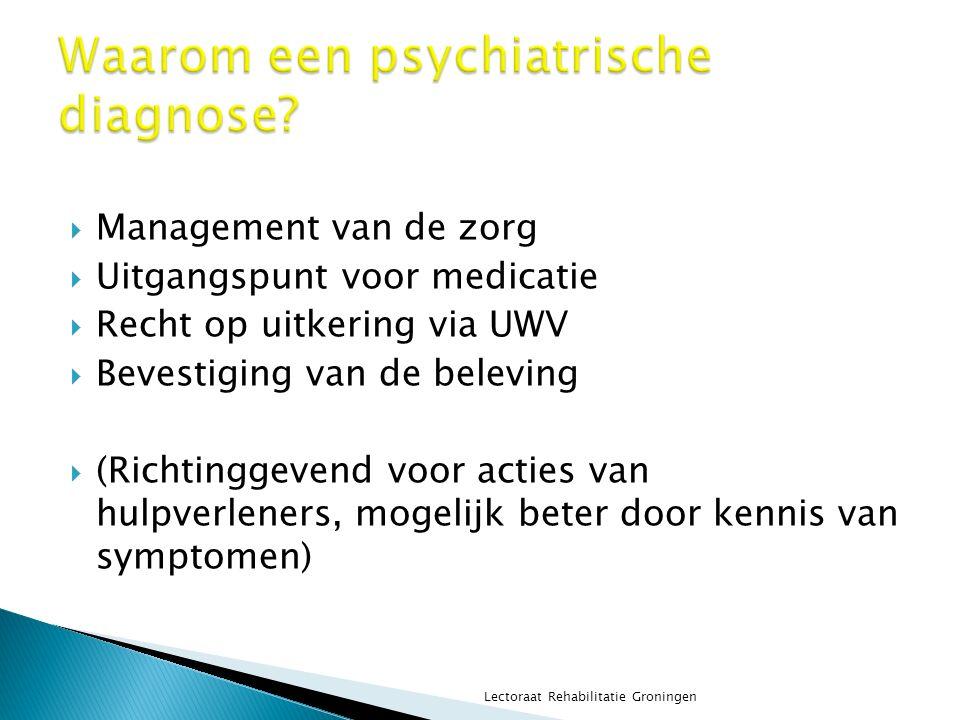Waarom een psychiatrische diagnose