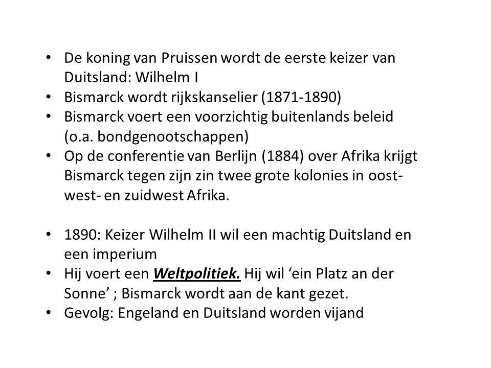 De koning van Pruissen wordt de eerste keizer van Duitsland: Wilhelm I