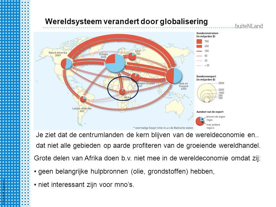 Wereldsysteem verandert door globalisering