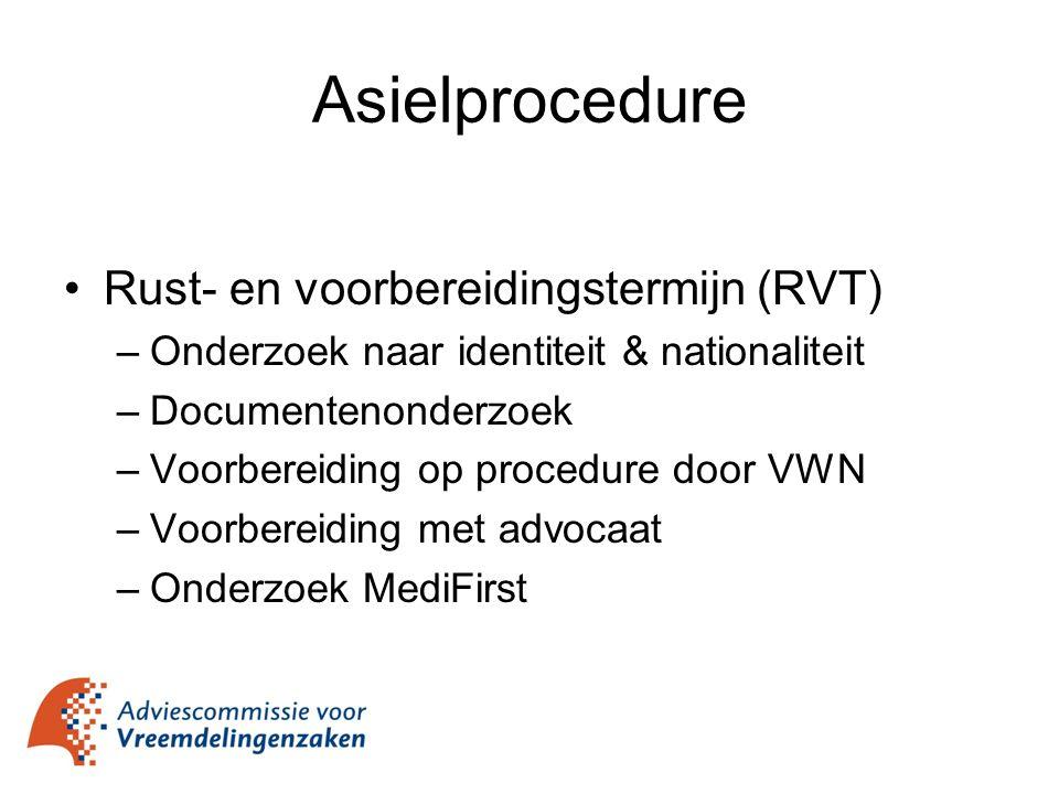 Asielprocedure Rust- en voorbereidingstermijn (RVT)