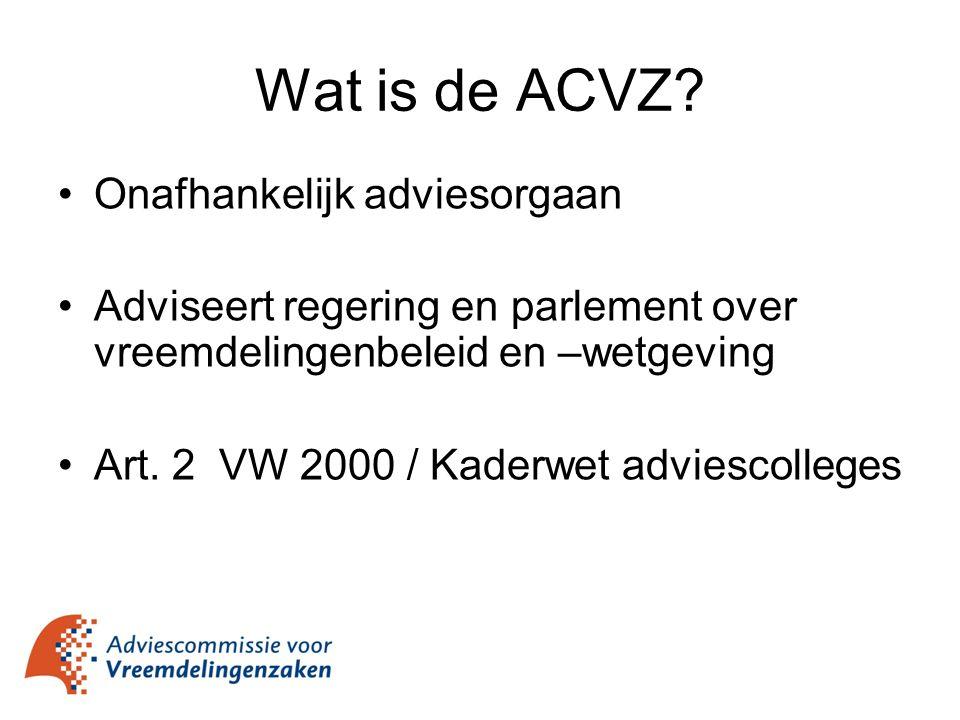Wat is de ACVZ Onafhankelijk adviesorgaan