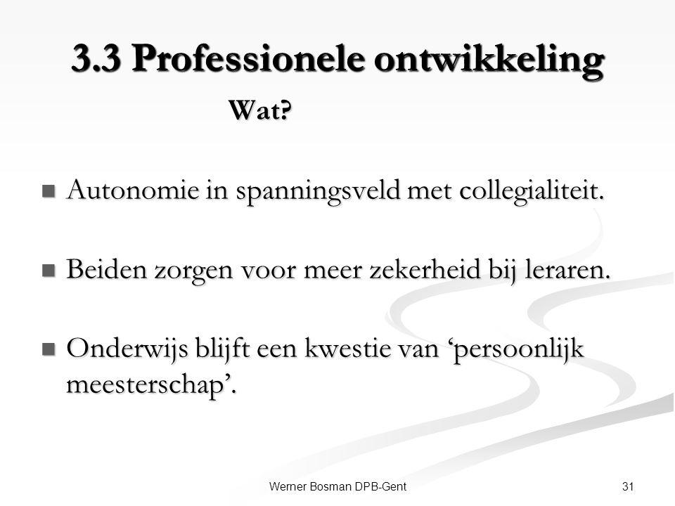 3.3 Professionele ontwikkeling