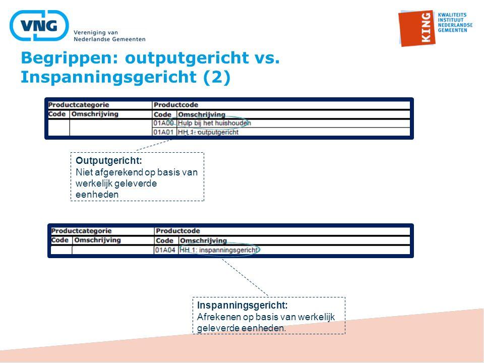 Begrippen: outputgericht vs. Inspanningsgericht (2)