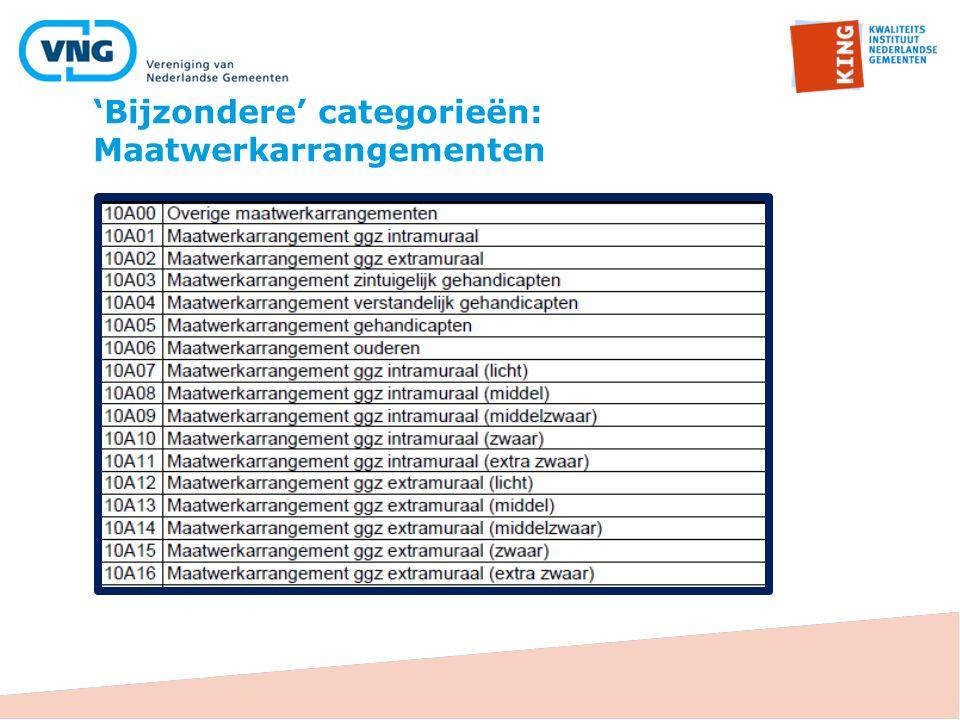 'Bijzondere' categorieën: Maatwerkarrangementen
