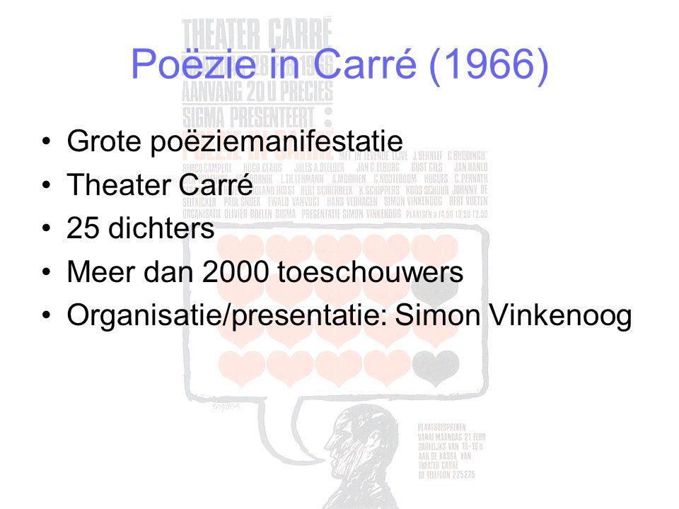 Poëzie in Carré (1966) Grote poëziemanifestatie Theater Carré