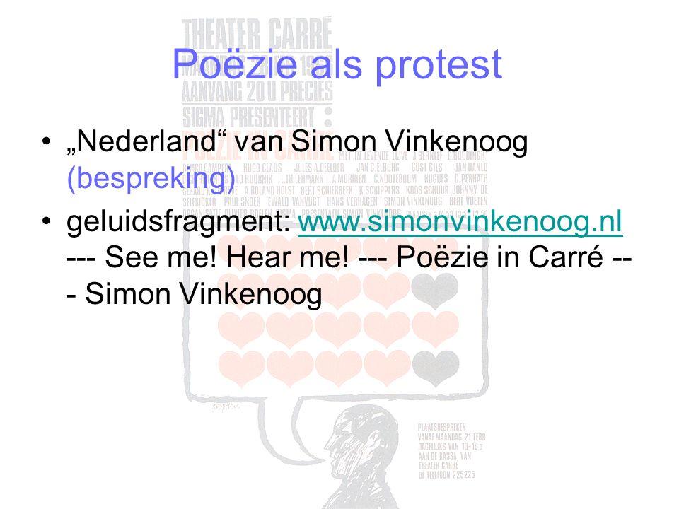 "Poëzie als protest ""Nederland van Simon Vinkenoog (bespreking)"