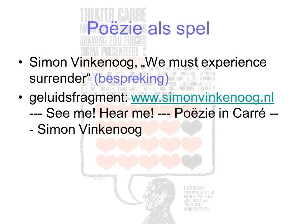 "Poëzie als spel Simon Vinkenoog, ""We must experience surrender (bespreking)"