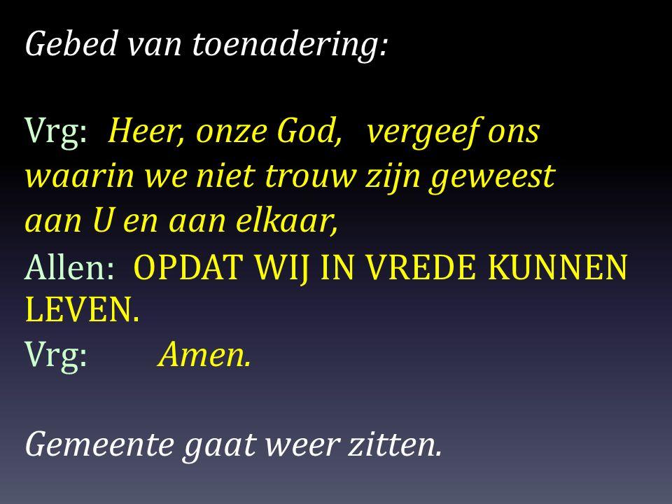 Gebed van toenadering: