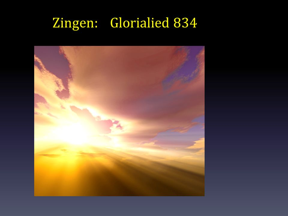 Zingen: Glorialied 834