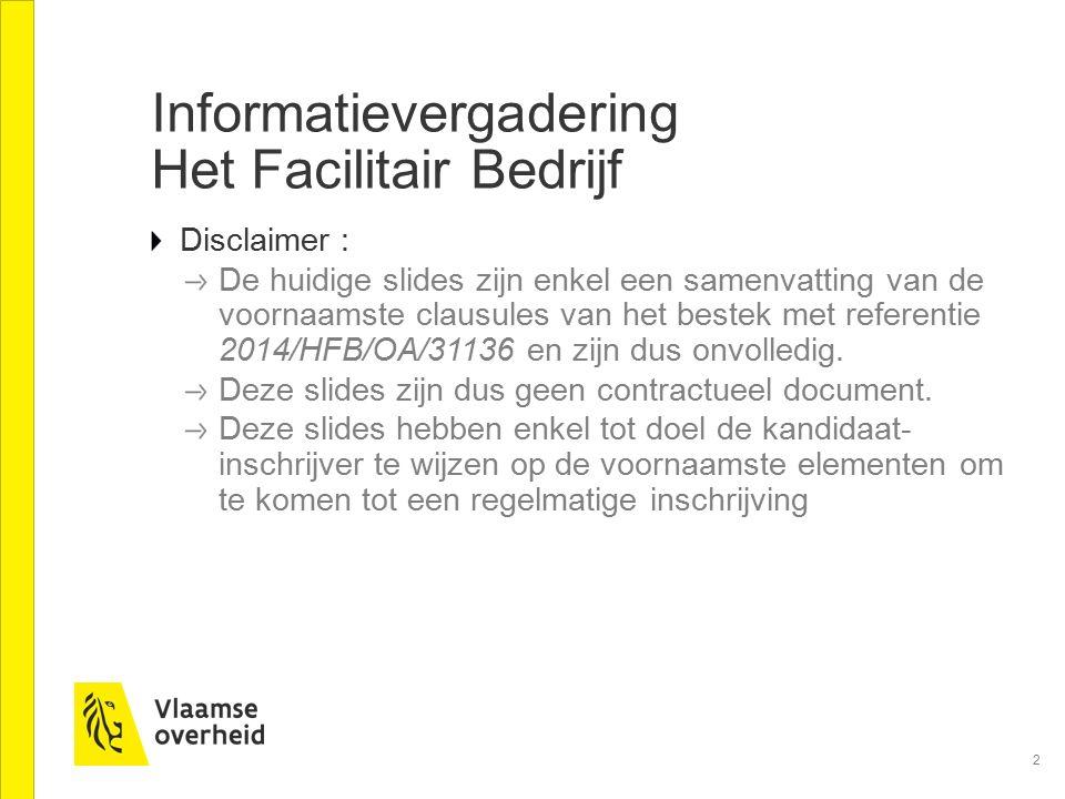 Informatievergadering Het Facilitair Bedrijf