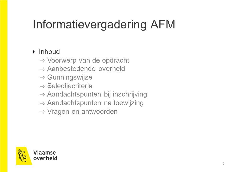 Informatievergadering AFM
