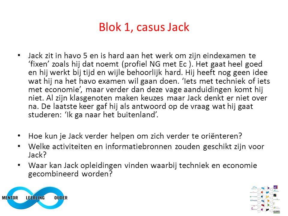 Blok 1, casus Jack