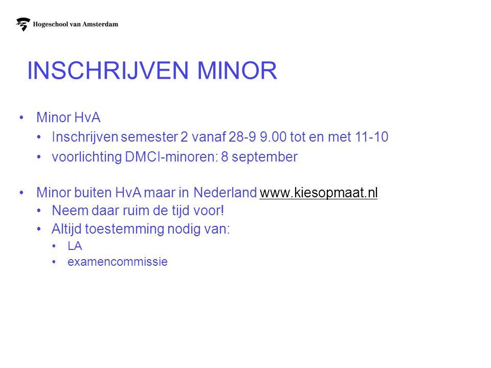 Inschrijven Minor Minor HvA