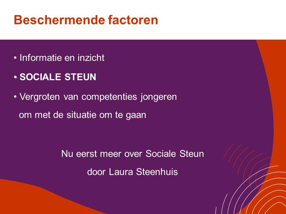 Nu eerst meer over Sociale Steun door Laura Steenhuis