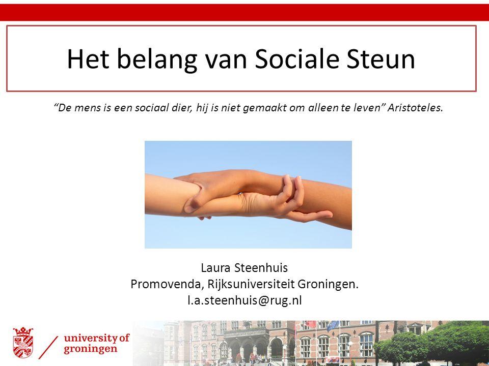 Het belang van Sociale Steun