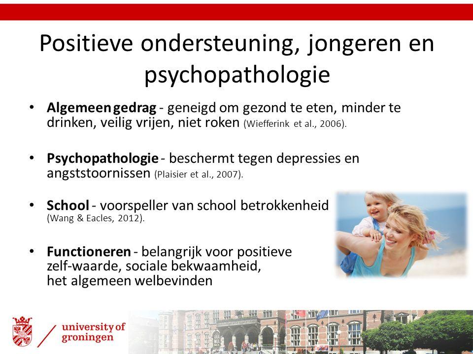 Positieve ondersteuning, jongeren en psychopathologie