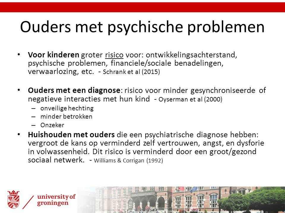 Ouders met psychische problemen